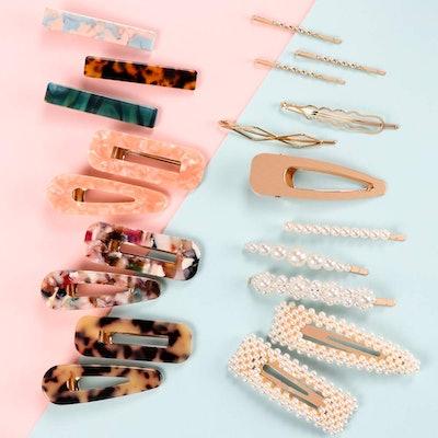SYEENIFY Fashion Hair Clips (20 Pieces)