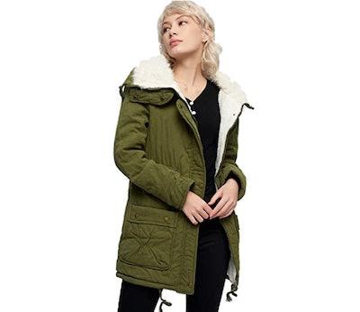 MEWOW Faux Sheepskin-Lined Winter Jacket