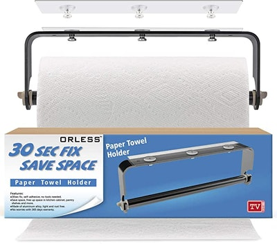 ORLESS Adhesive Paper Towel Holder Under Cabinet
