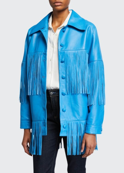 Loretta Lamb Leather Fringe Jacket