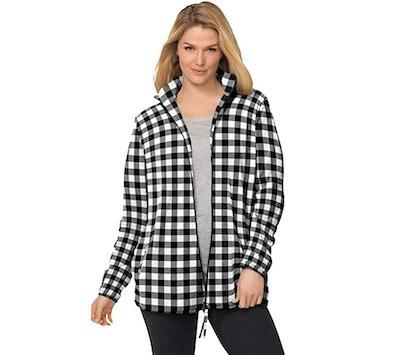 Woman Within Women's Plus Size Microfleece Jacket