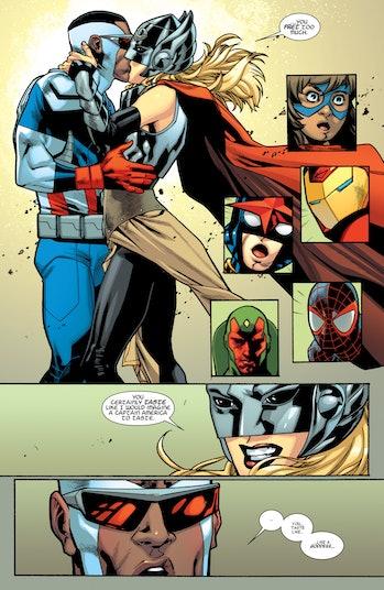 Avengers Thor Sam Wilson Jane Foster Kiss