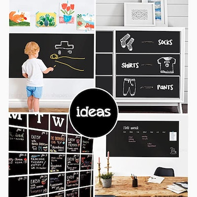 Simple Shapes Chalkboard Contact Paper