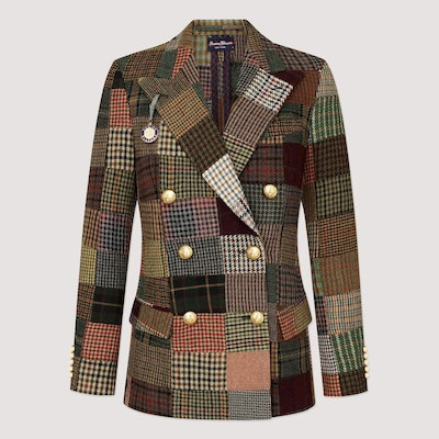 Patchwork Tweed Diana Blazer