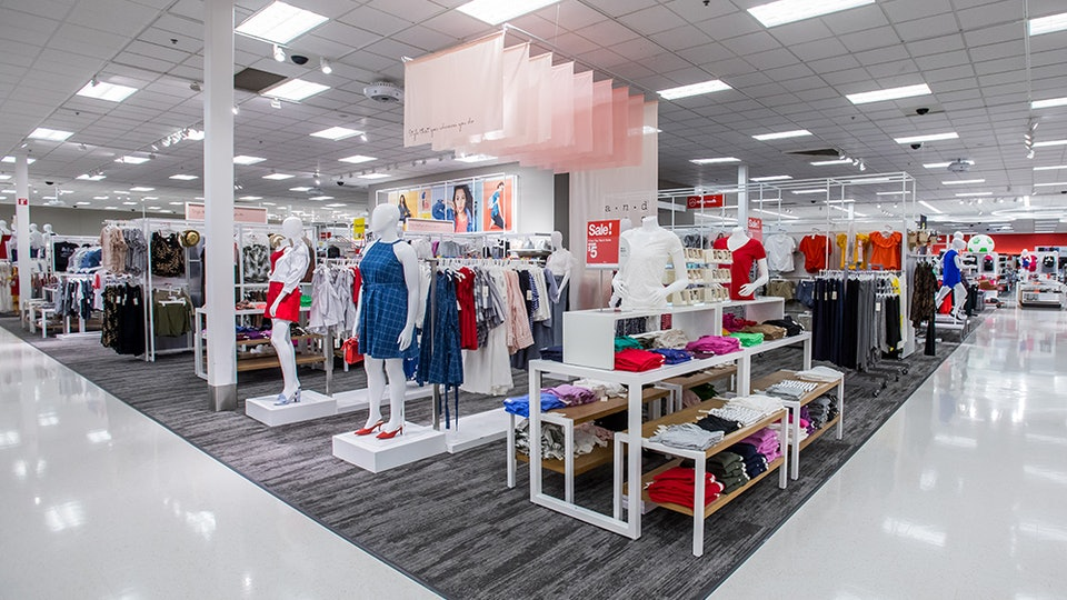 the interior of a target store