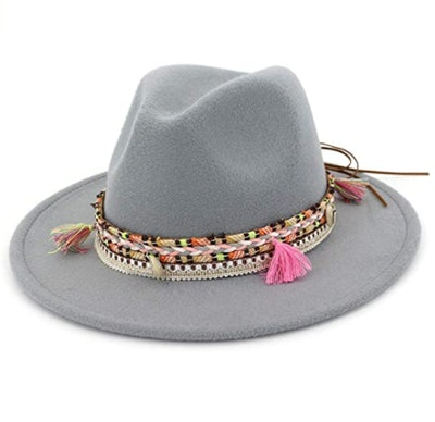 Lanzom Wool Fedora Hat