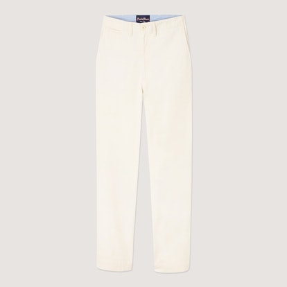 Tailored Cream Twill Trousers