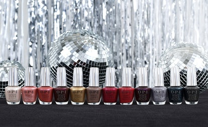 12 colors from OPI's new Shine Bright nail polish collection
