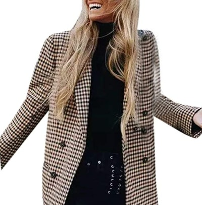 Sunmoot-Coats Plaid Blazer