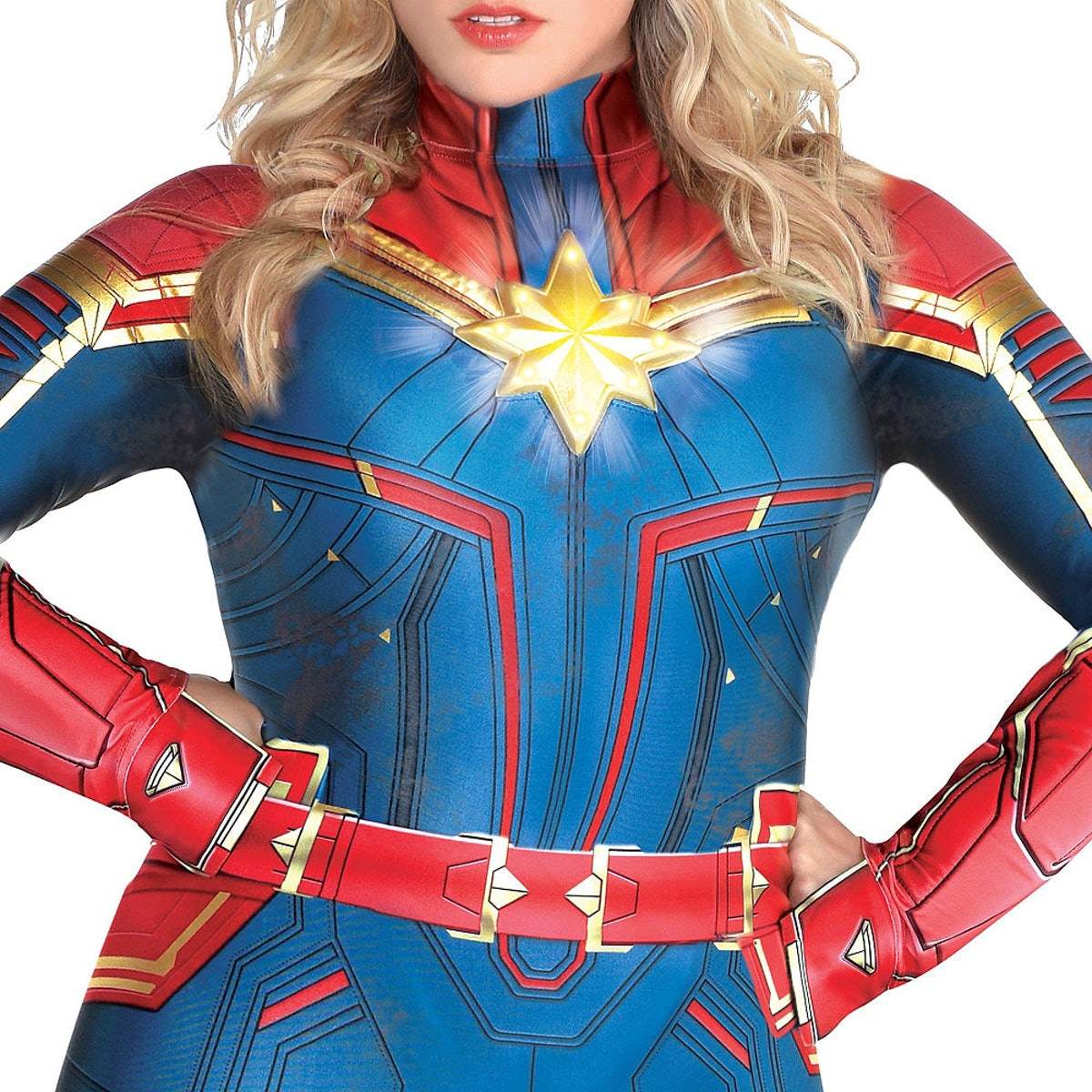 Adult Light-Up Captain Marvel Costume Plus Size