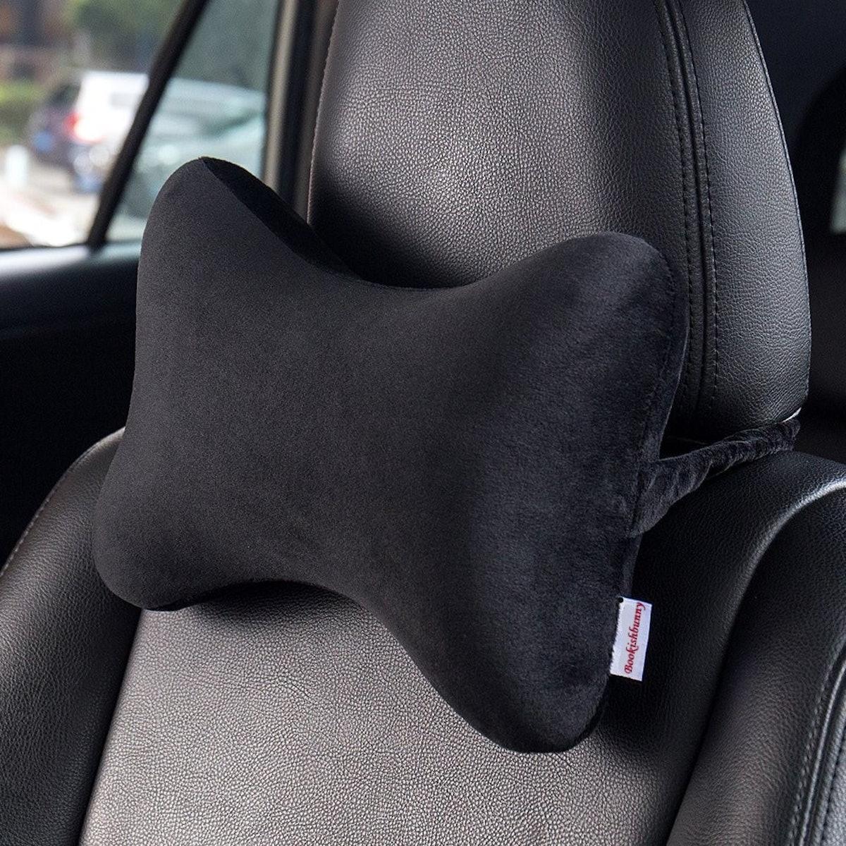 Bookishbunny Memory Foam Car Seat Head Rest