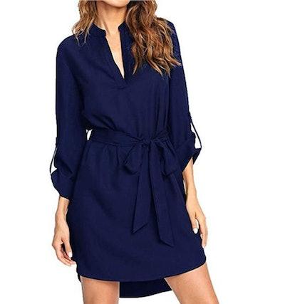 kenoce Button Down Tunic Dress