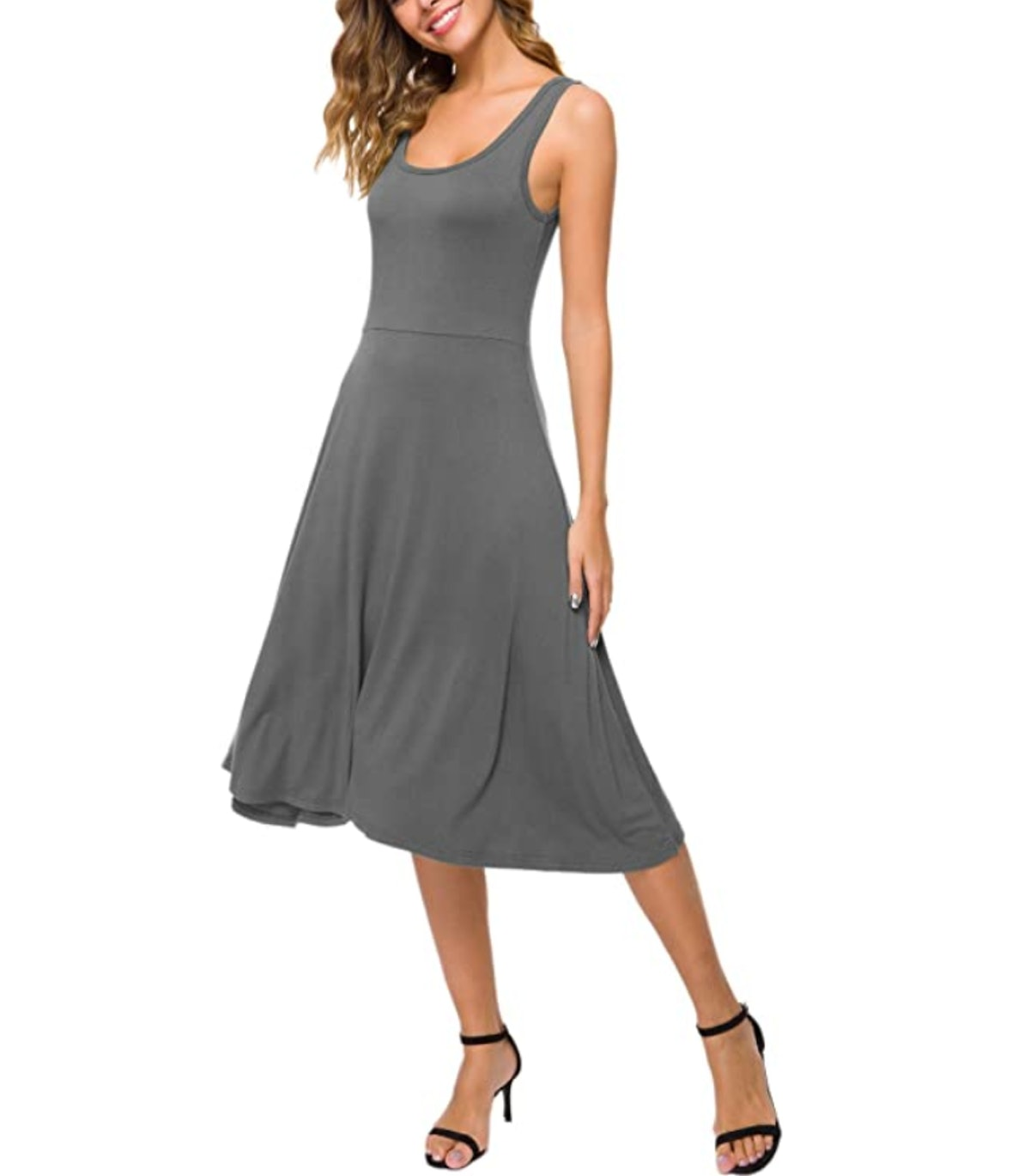 Urban CoCo Women's Sleeveless Midi Dress