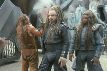 Travolta and Forest Whitaker as nine foot tall aliens