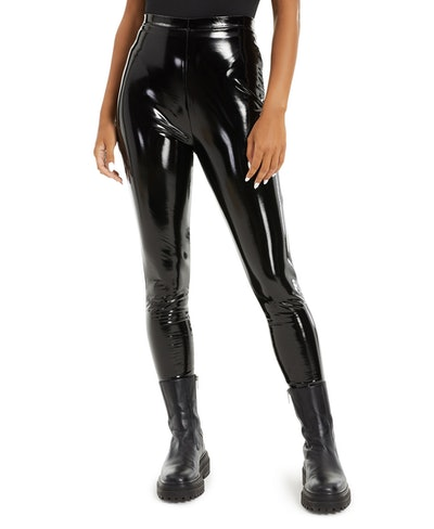 Danielle Bernstein Patent Faux-Leather Leggings
