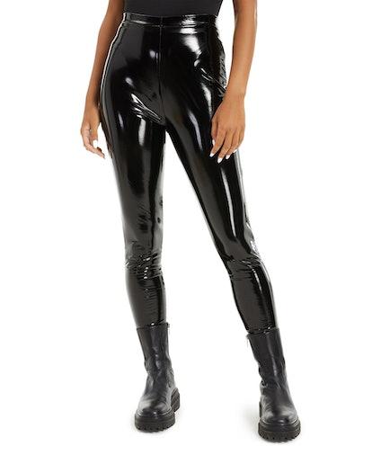 Danielle Bernstein Patent Faux-Leather Leggings