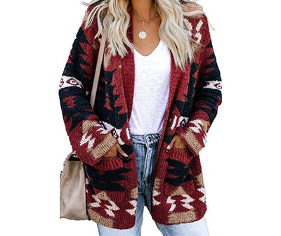 Dokotoo Womens Open Front Long Sleeve Cardigan