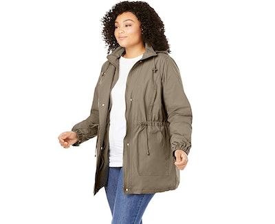Woman Within Women's Plus Size Anorak Rain Jacket
