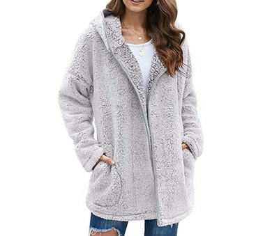Dokotoo Womens Long Sleeve Fuzzy Cardigans Jacket