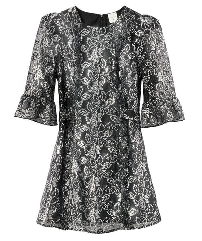 H&M x the Vampire's Wife Silver Lace Mini Dress