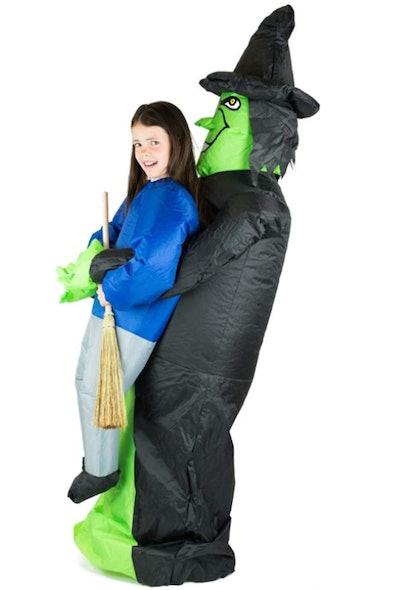 Bodysocks Kids Inflatable Witch Fancy Dress Costume