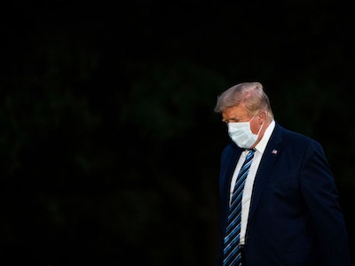 Donald Trump Wearing a Mask After Covid-19 Diagnosis