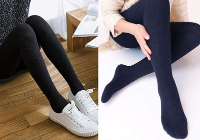 Vero Monte Wool Blend Ribbed Tights