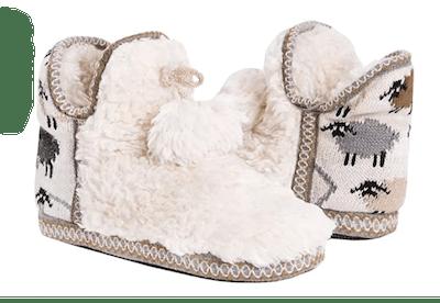 Fashare Slip on Fuzzy Slipper Boots