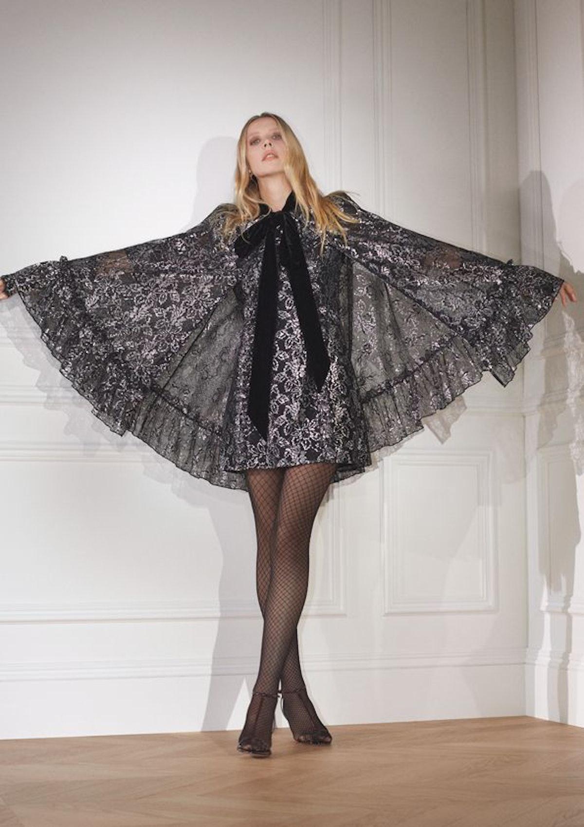 H&M x the Vampire's Wife Silver Lace Cape