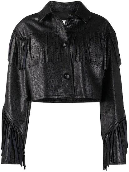 Cropped Fringe Jacket