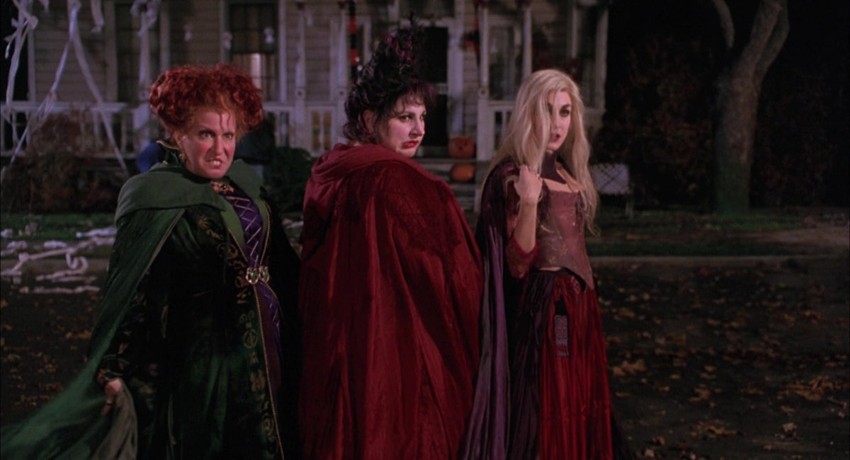 """Winifred, Mary, and Sarah Sanderson standing together from """"Hocus Pocus."""""""