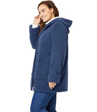 Woman Within Plus Size Fleece Jacket