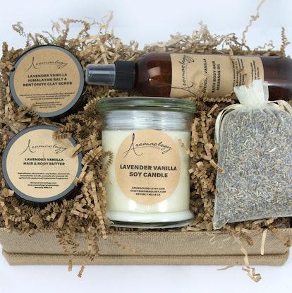 Spa Gift Basket - Lavender Vanilla