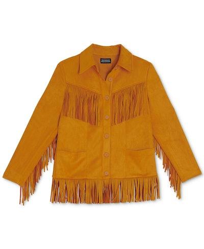 Plus Size Fringe Jacket