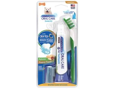 Nylabone Advanced Oral Care Natural Dog Dental Kit