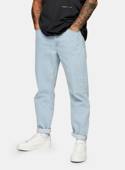 Bleach Wash Relaxed Jeans