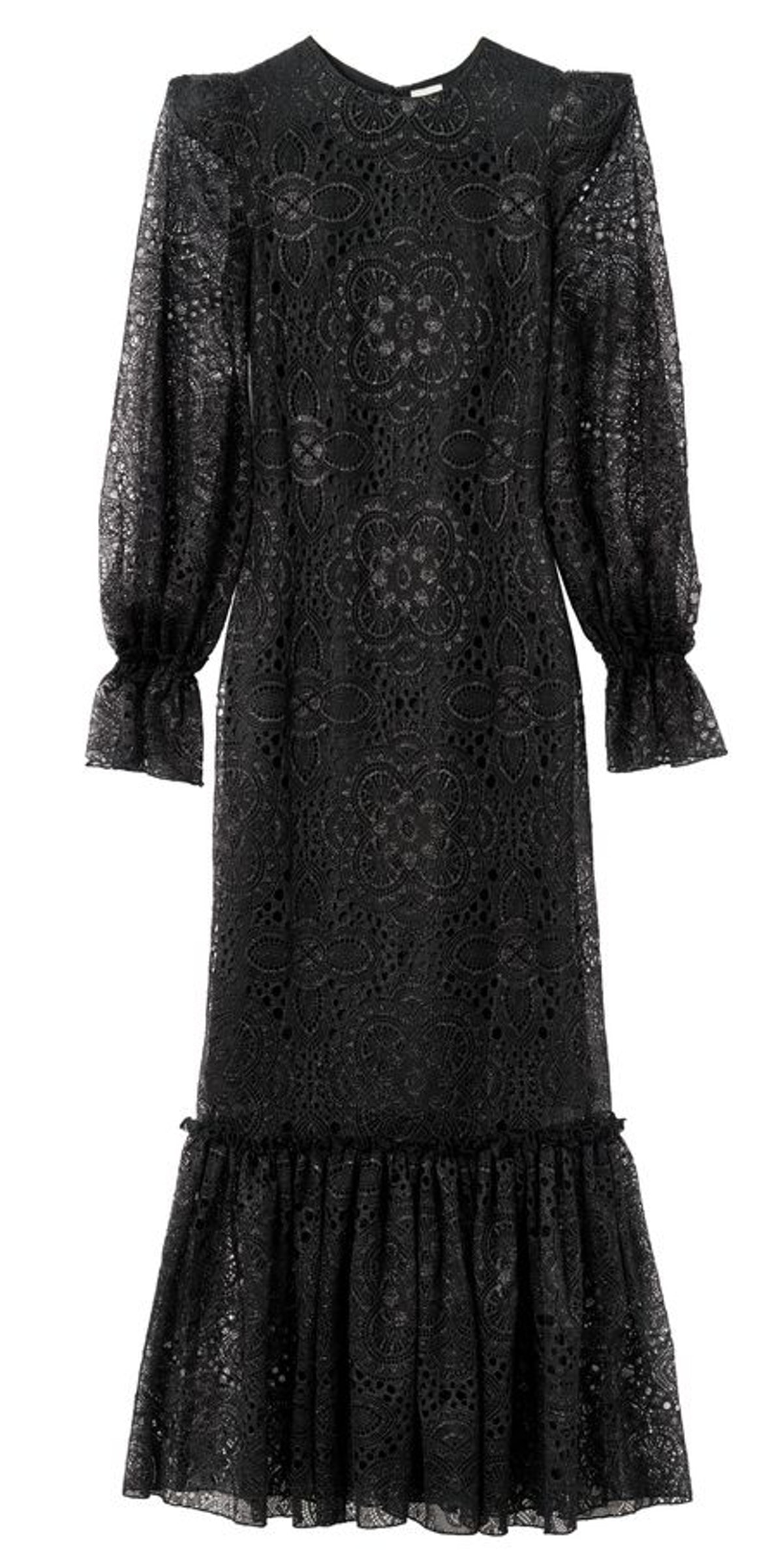 H&M x the Vampire's Wife Black Lace Maxi Dress