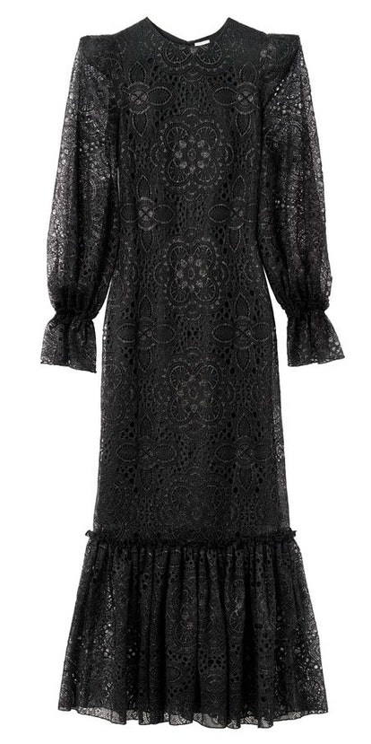 H&M x the Vampire's Wife Black Lace Maxi Dress