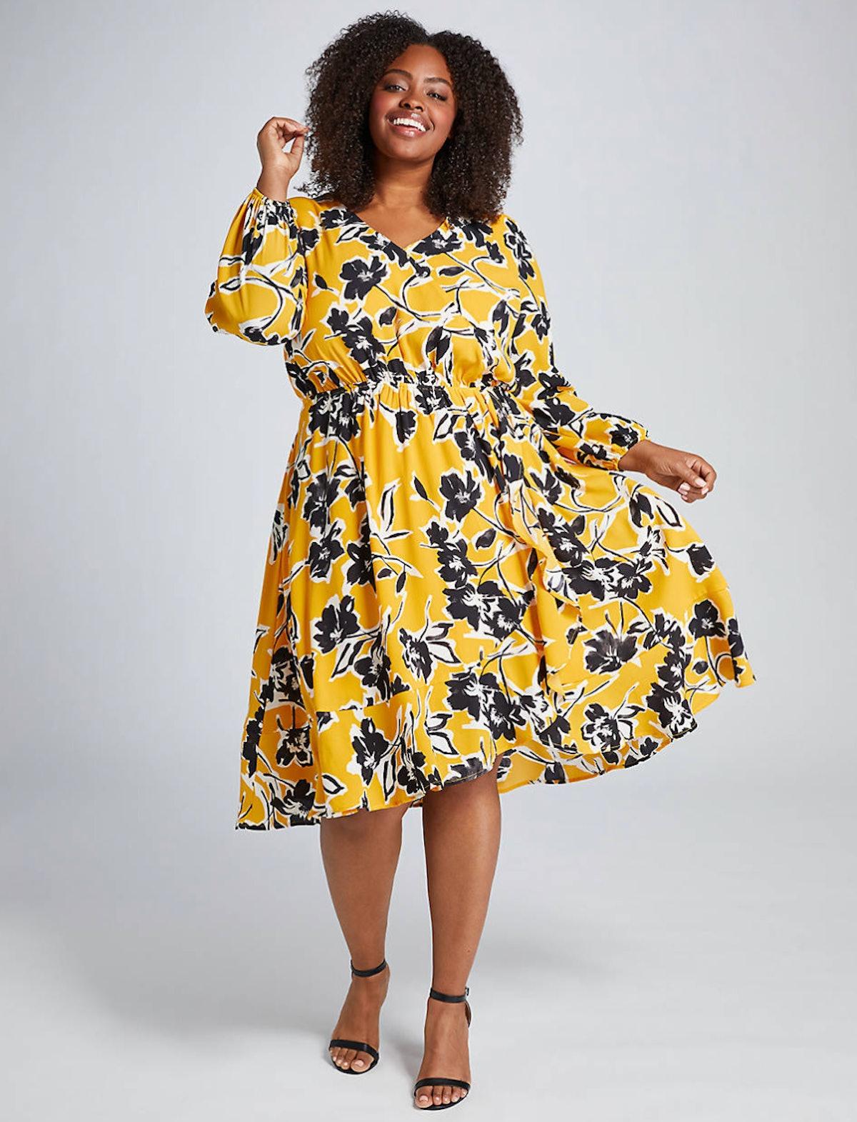 Beauticurve Crossover Midi Dress