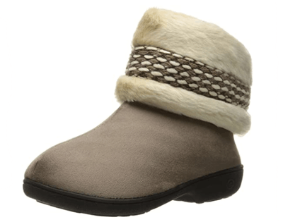 Isotoner Erica Microsuede Boot Slippers