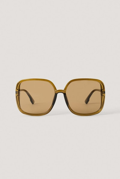 Oversize Square Retro Sunglasses