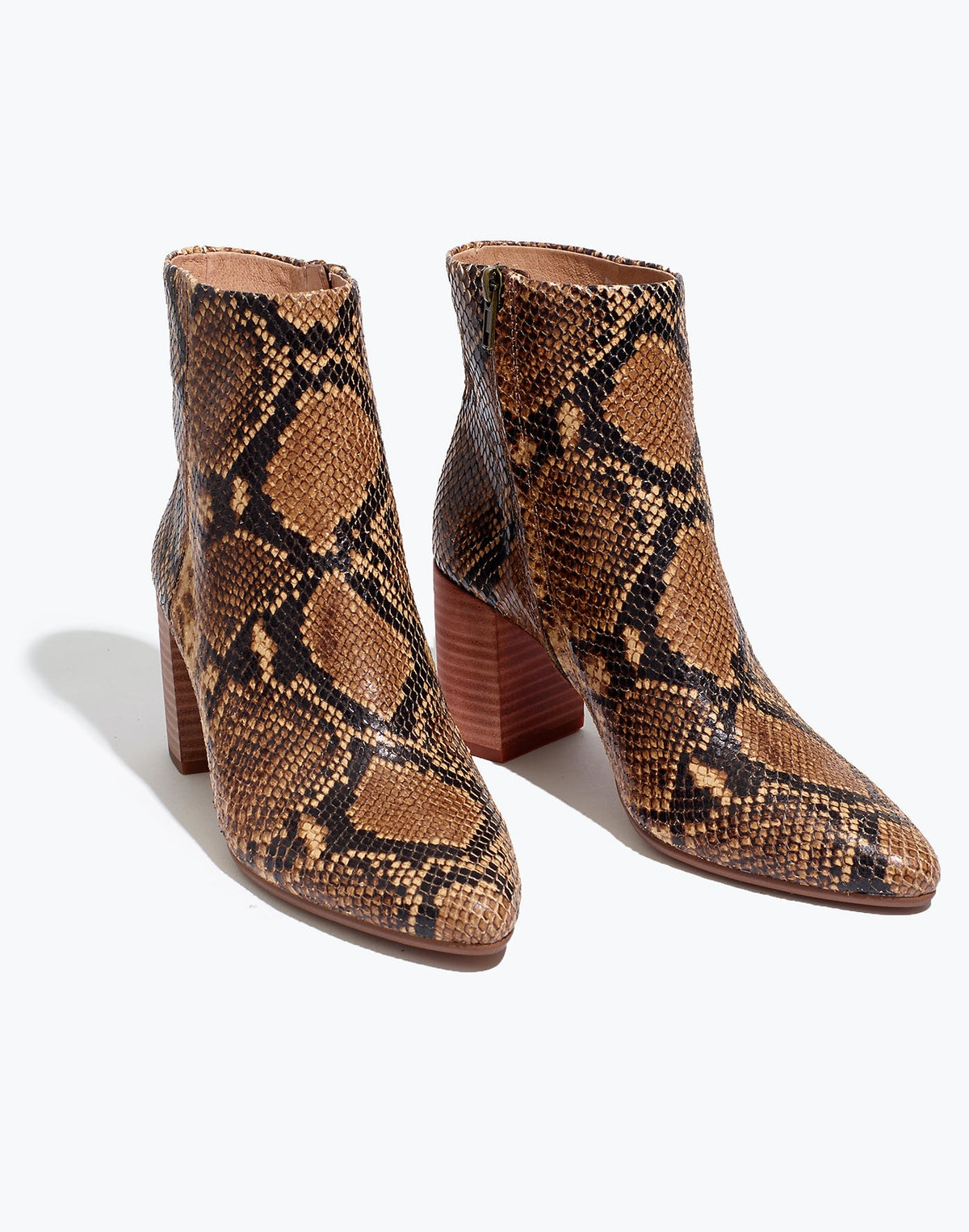 The Fiona Boot in Snake Embossed Leather