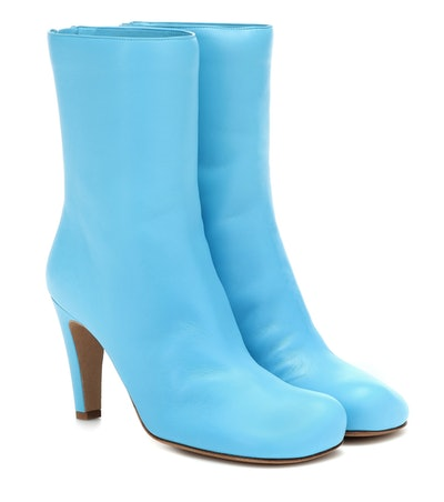 Bloc Leather Ankle Boots