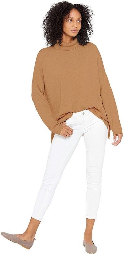 State Cashmere Oversized Turtleneck Tunic Sweater