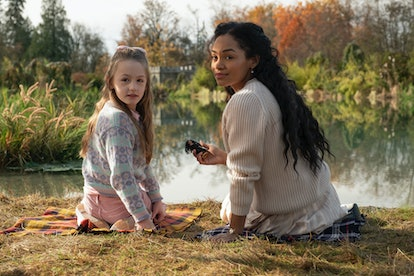 Flora and Rebecca Jessel in 'The Haunting of Bly Manor' via the Netflix press site