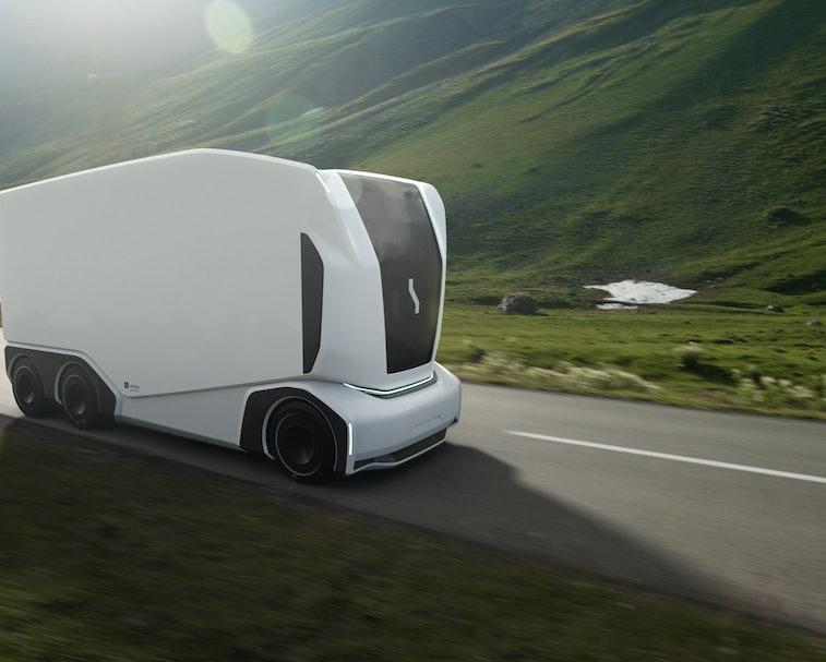 Einride Pod is an autonomous truck with no driver's cab.