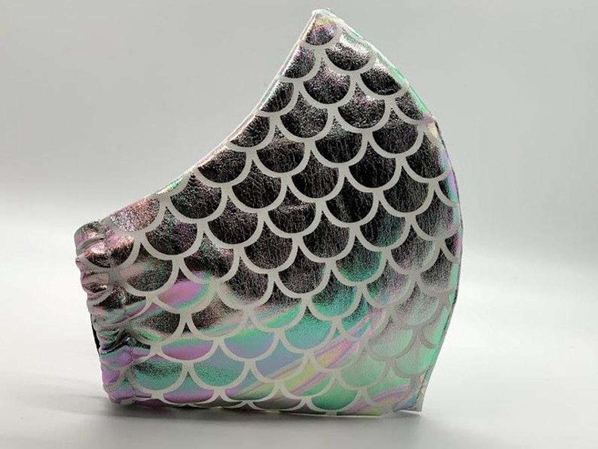 Fatcorgimasks Iridescent Mermaid Face Mask