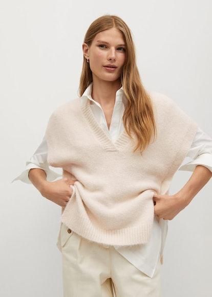 V-neck knit Gillet