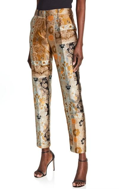 Celestial Floral Brocade Pants