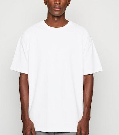 White Crew Oversized Heavy Cotton T-Shirt